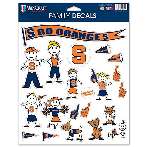 (NCAA Syracuse Orange Spirit Family Decal Sheet, 8.5 x)