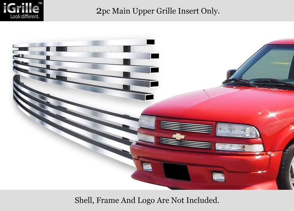 APS Compatible with 1998-2004 Chevy S-10 98-05 Blazer Main Upper Billet Grille Insert N19-A34058C