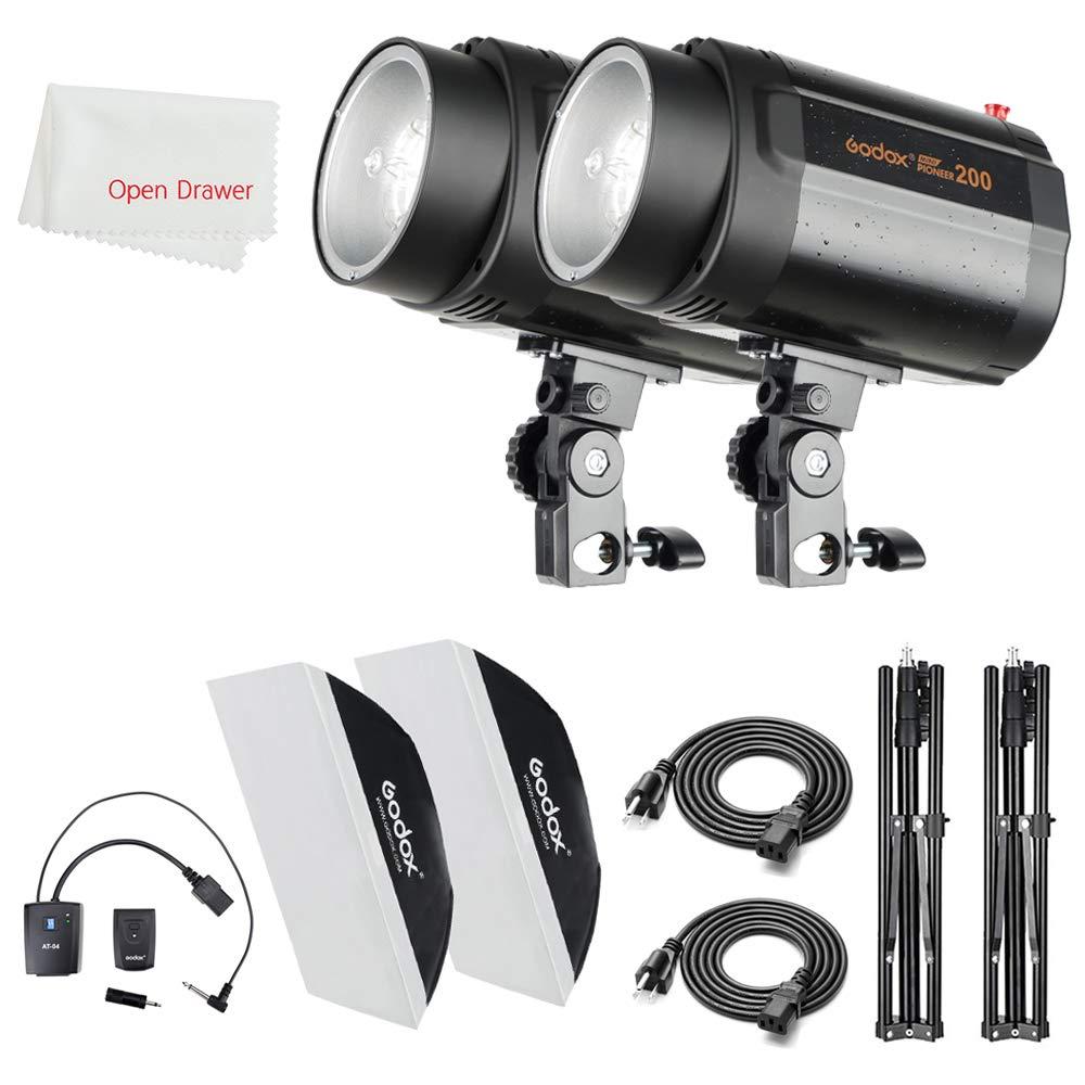 Godox 400Ws Strobe Studio Flash Kit 2 Pieces 200Ws Photo-Strobe Lighting, Light Stands, Triggers, Softbox by Godox