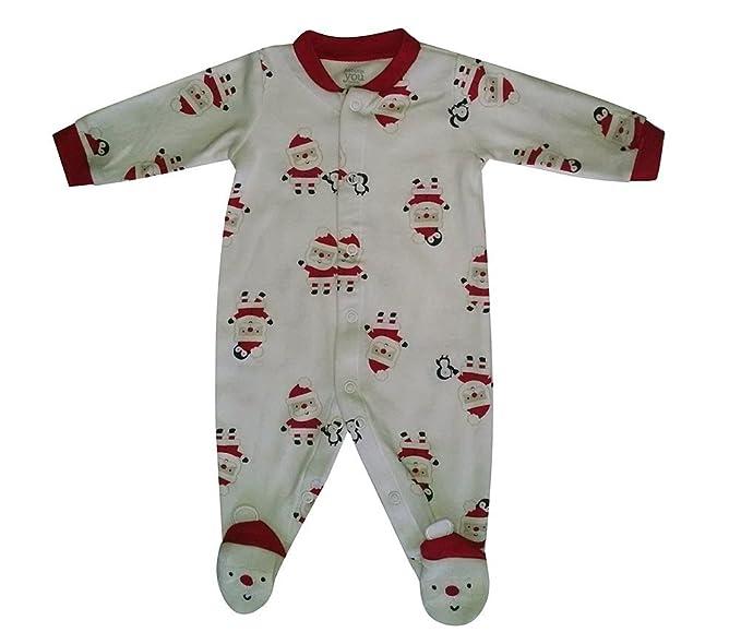 3ba4356a06 Amazon.com  Carters Infant Boys First Christmas Sleeper White Santa ...