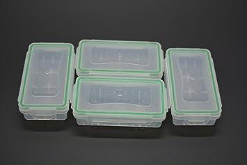 Case Wonder Transparente Caja de Almacenamiento de la Batería Funda Impermeable Soporte de Plástico Organizador para 18650 / CR123 A/16340 Pilas: Amazon.es: Electrónica
