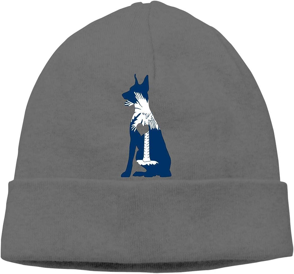 South Carolina Flag Adore Dobermans Beanie Hat for Men Women,Soft Knitted Cap Skiing Cap