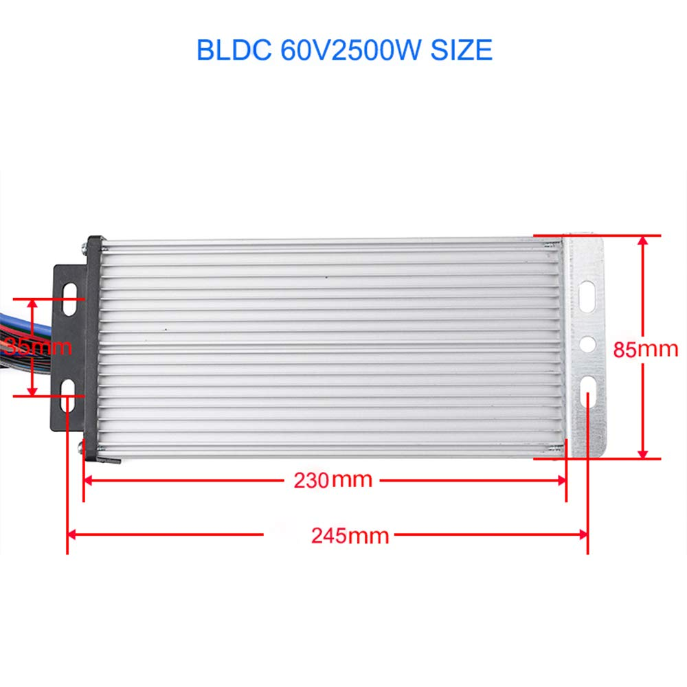 My1020 2500w 60v Electric Brushless Dc Motor Kit 41a 18 Power Wiring In Addition Car Conversion Kits Mosfet Controllertwist Grip Throttle Scooter E Bike