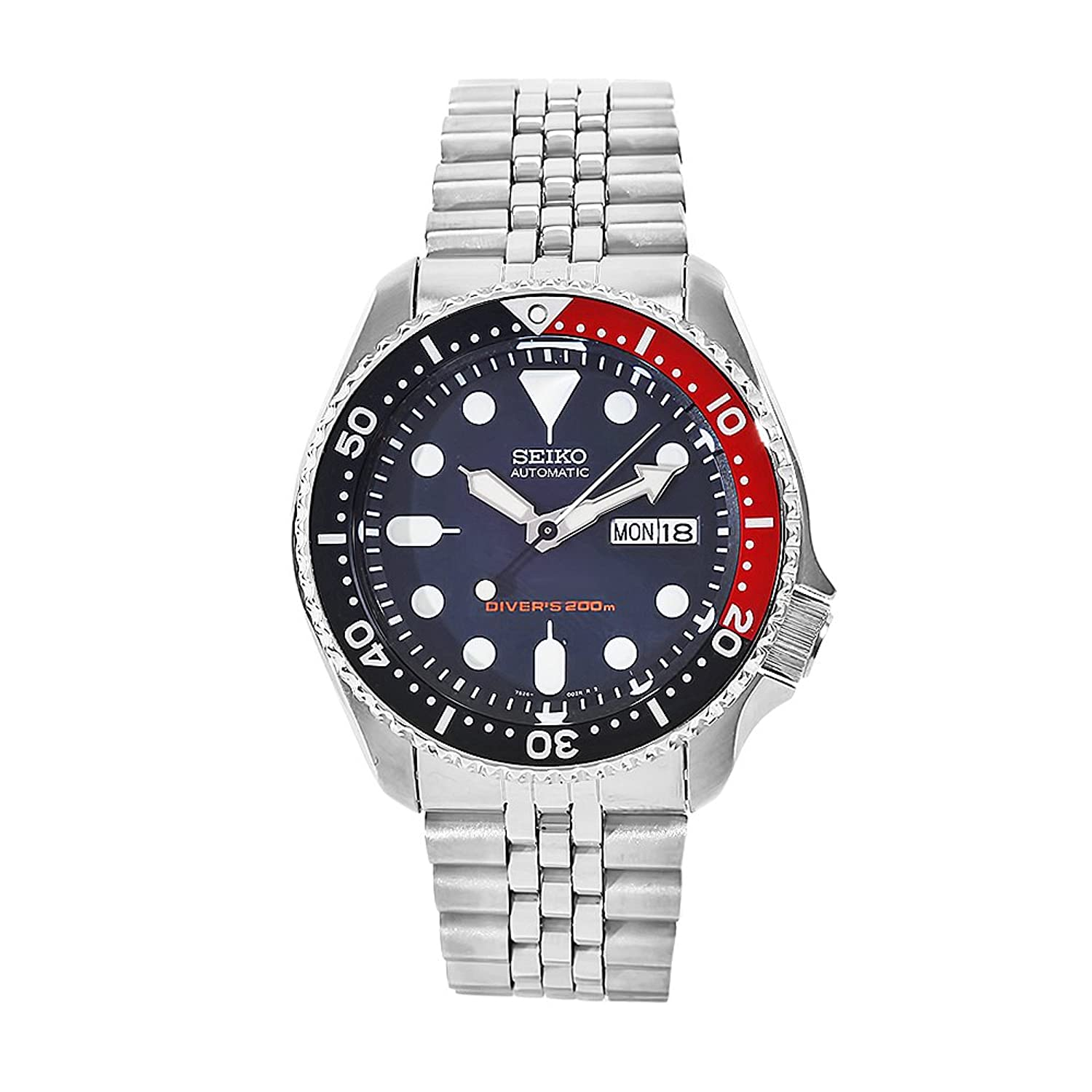 Seiko SKX009K2 Unisex automatic Watch with Blue Dial Analogue Display and Stainless steel plated gun metal - SKX009K2
