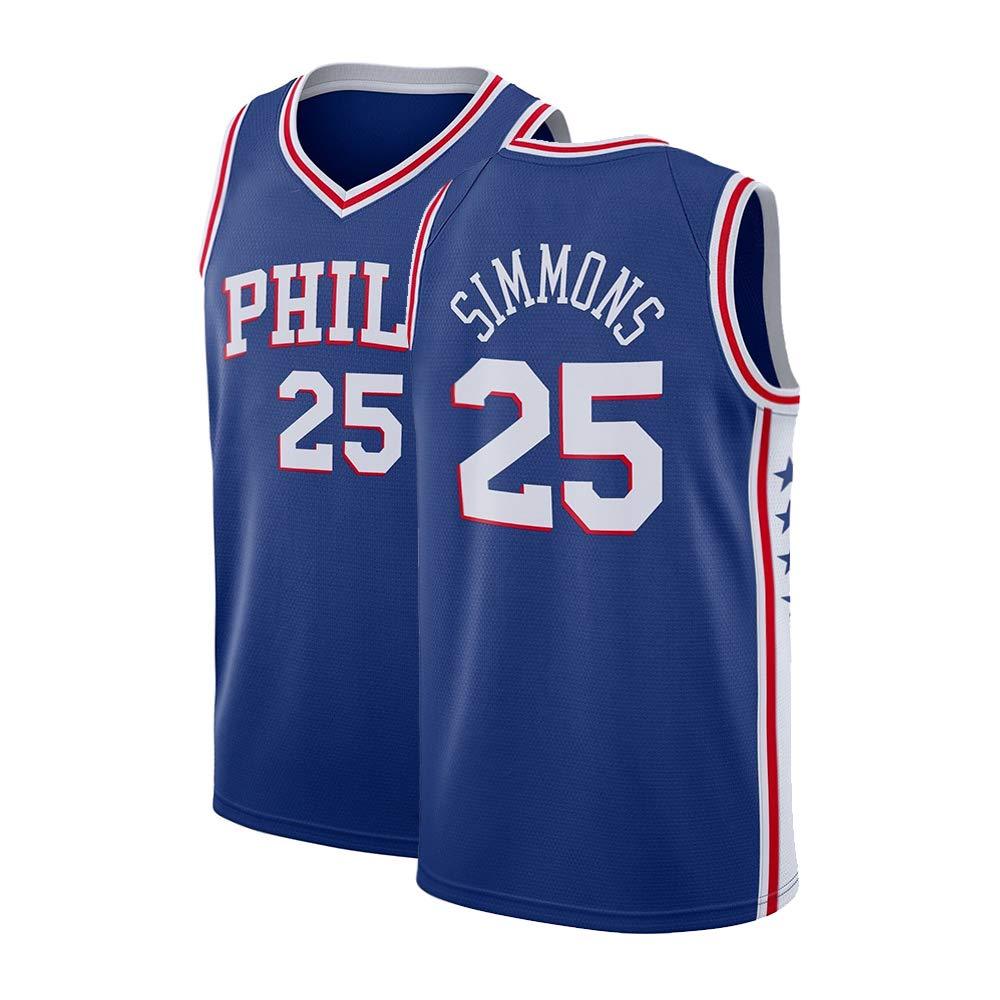 best sneakers ed0f1 0e368 Nmfdz Mens Simmons Jersey 25 Ben Adult Philadelphia Basketball