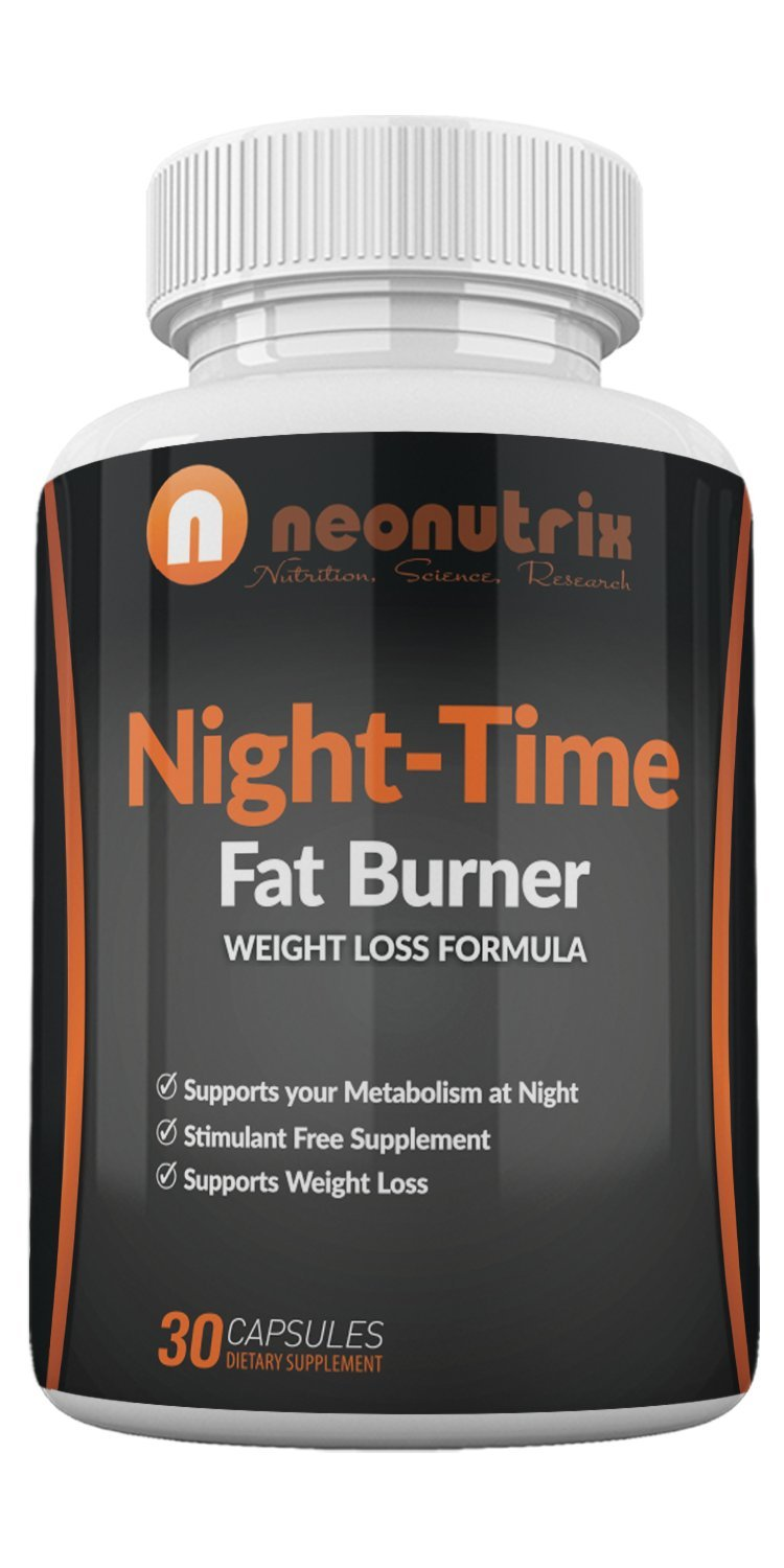 Night-Time Fat Burner Formula - Weight Loss Capsules for Men/Women, Amino-Acids Based Nocturnal Dietary Supplement, Stimulates Metabolism, Promotes REM Sleep, 30 Capsules - Made in USA by Neonutrix by N NEONUTRIX NUTRITION, SCIENCE, RESEARCH