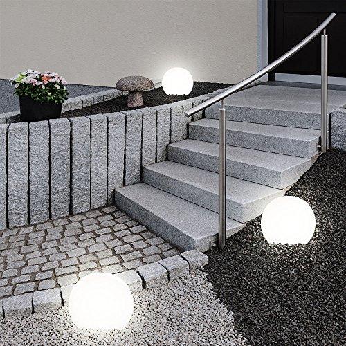 8er Set Led Aussen Solar Lampen Kugel Design Erd Spiess Steck Leuchten