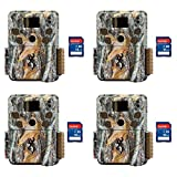 Browning Trail Cameras Strike Force Pro 18MP Game Cameras, 4 Pack + 16GB SD Cards