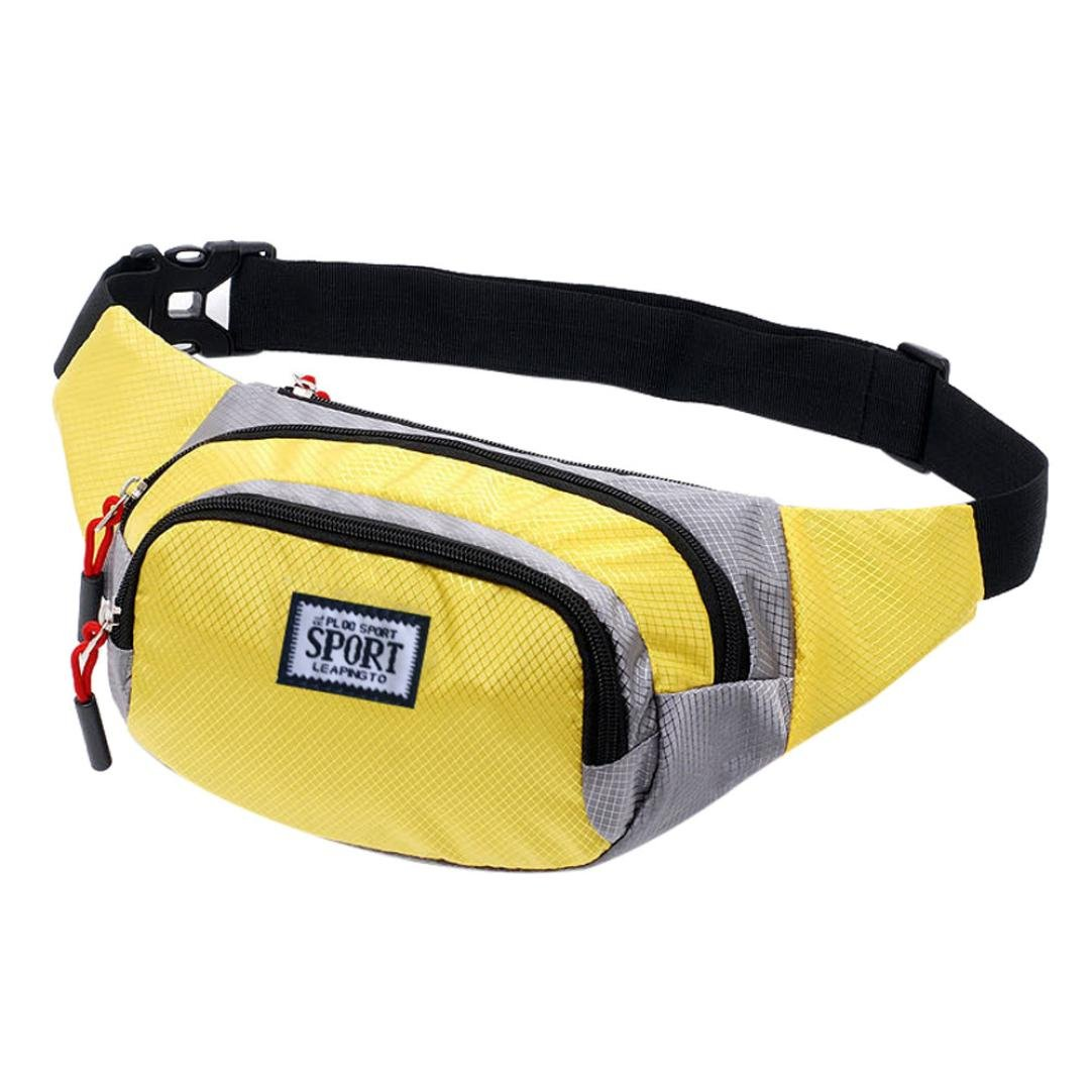 Inkach Waist Pack Bags - Fashion Unisex Leather Shoulder Chest Bag - Crossbody Bags Outdoor Fanny Packs (Yellow)