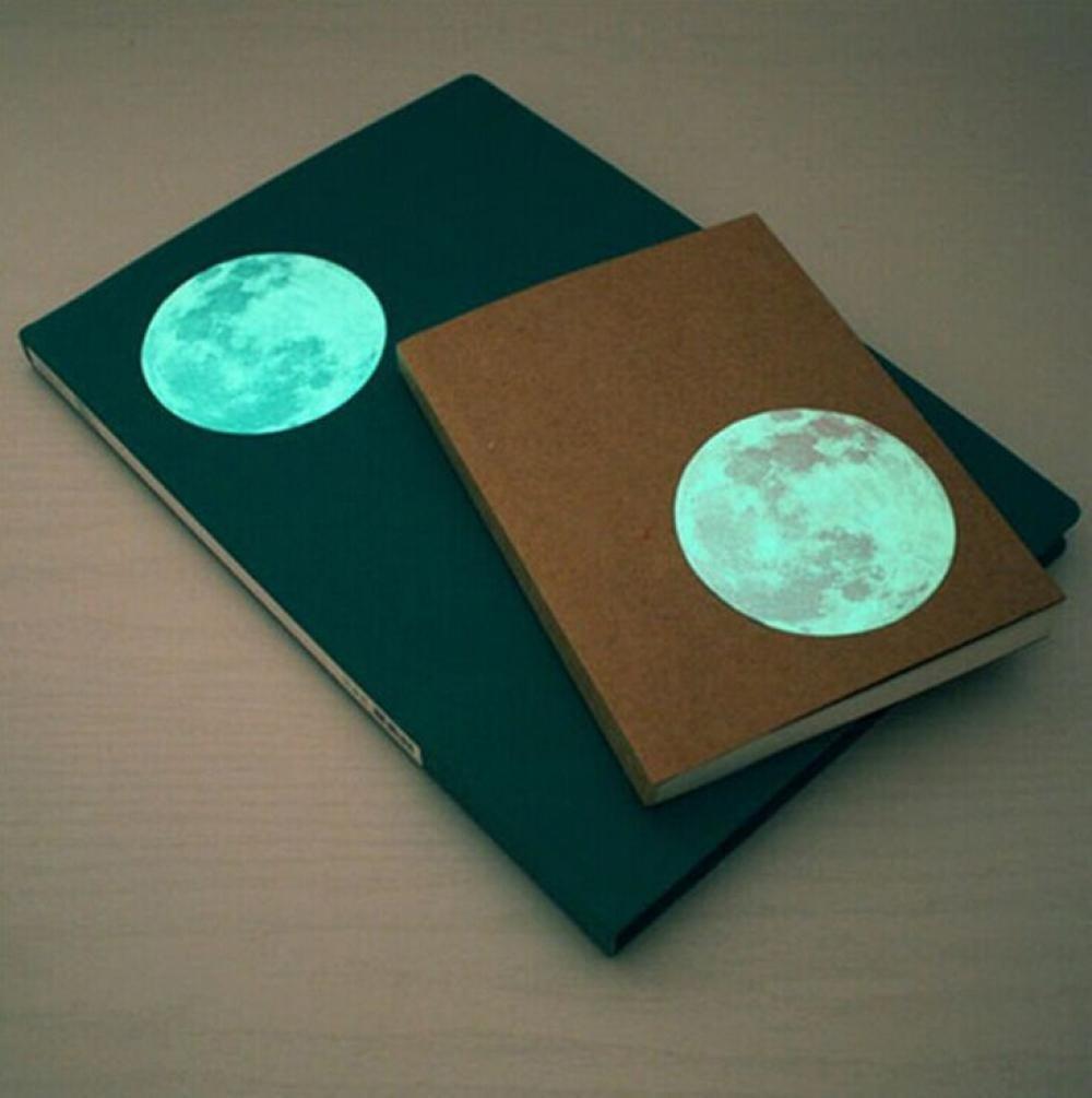 Bovake 6Pcs bunter kreativer Durchmesser 5 cm Mond-Mond-Wand-Aufkleber-leuchtendes Schlafzimmer-Wohnzimmer-Hintergrund-Wand-Aufkleber
