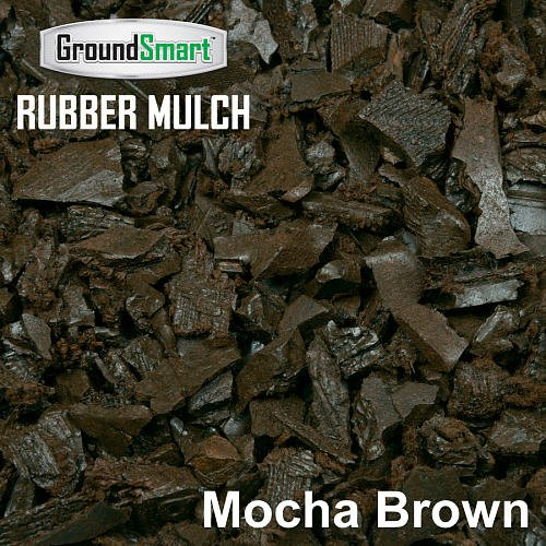GROUNDSMART LTGMBMN5TS Rubber Mulch, Large, Mocha Brown