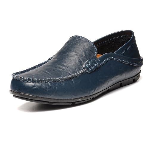 REETENE - Mocasines de Charol para hombre azul azul: Amazon.es: Zapatos y complementos