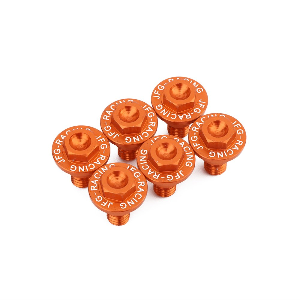 6PCS Front Fork Guard Bolt Screws For KTM EXC EXCF SX SXF XC XCF XCW XCFW 50-530 FREERIDE 250F 250R 350 Motorcycle - Orange