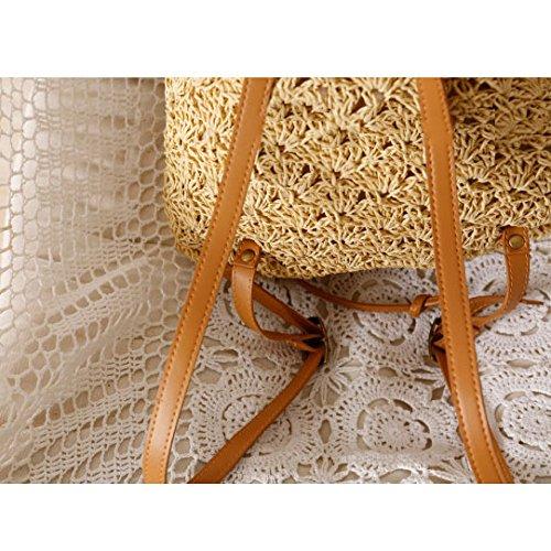 Bolsos Beach Summer Bag Beige Sen Leisure Straw Bags Series beige Shoulder Gaoqq RZnWzxz