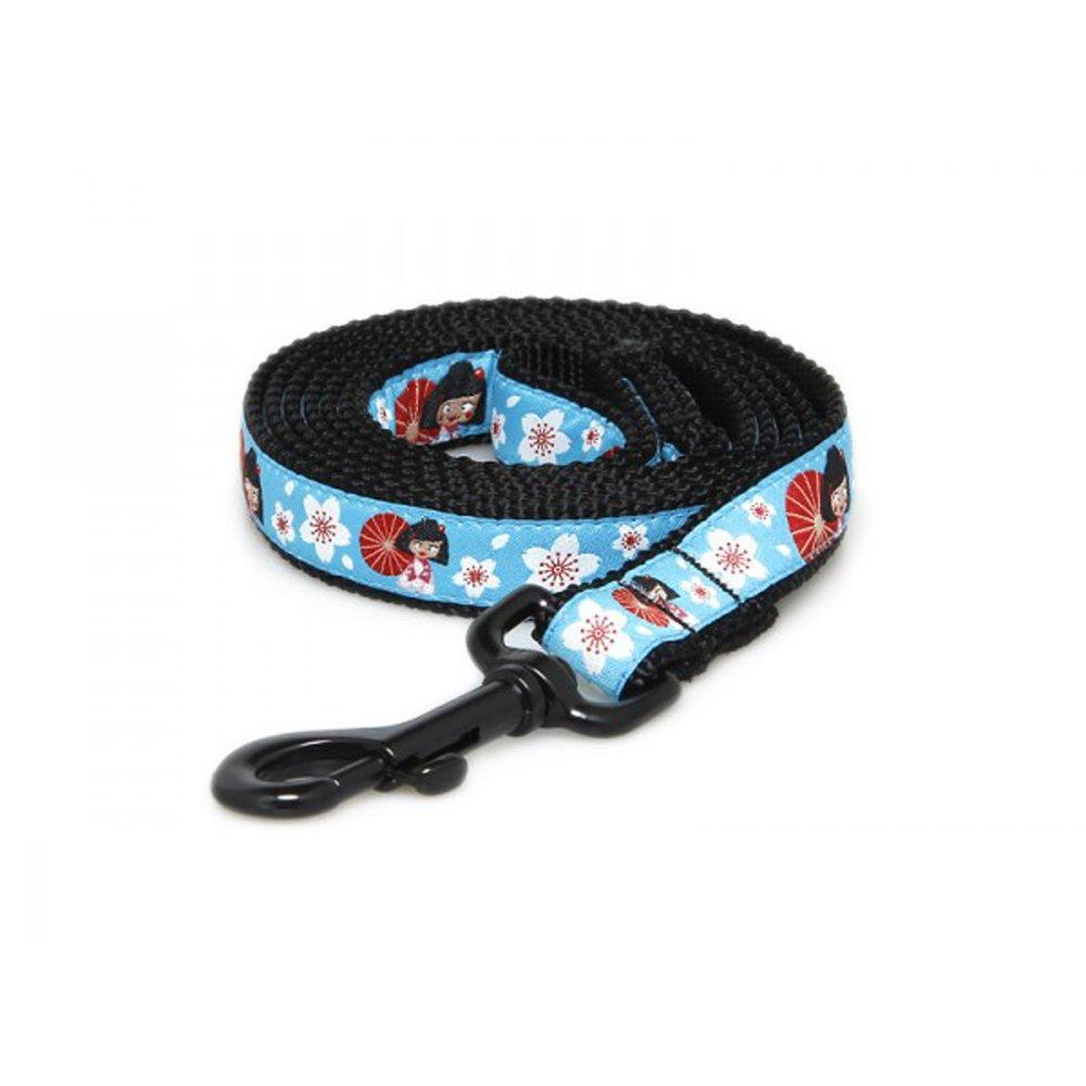 Max & Zoey Geisha Dog Leash, 5-Feet, bluee