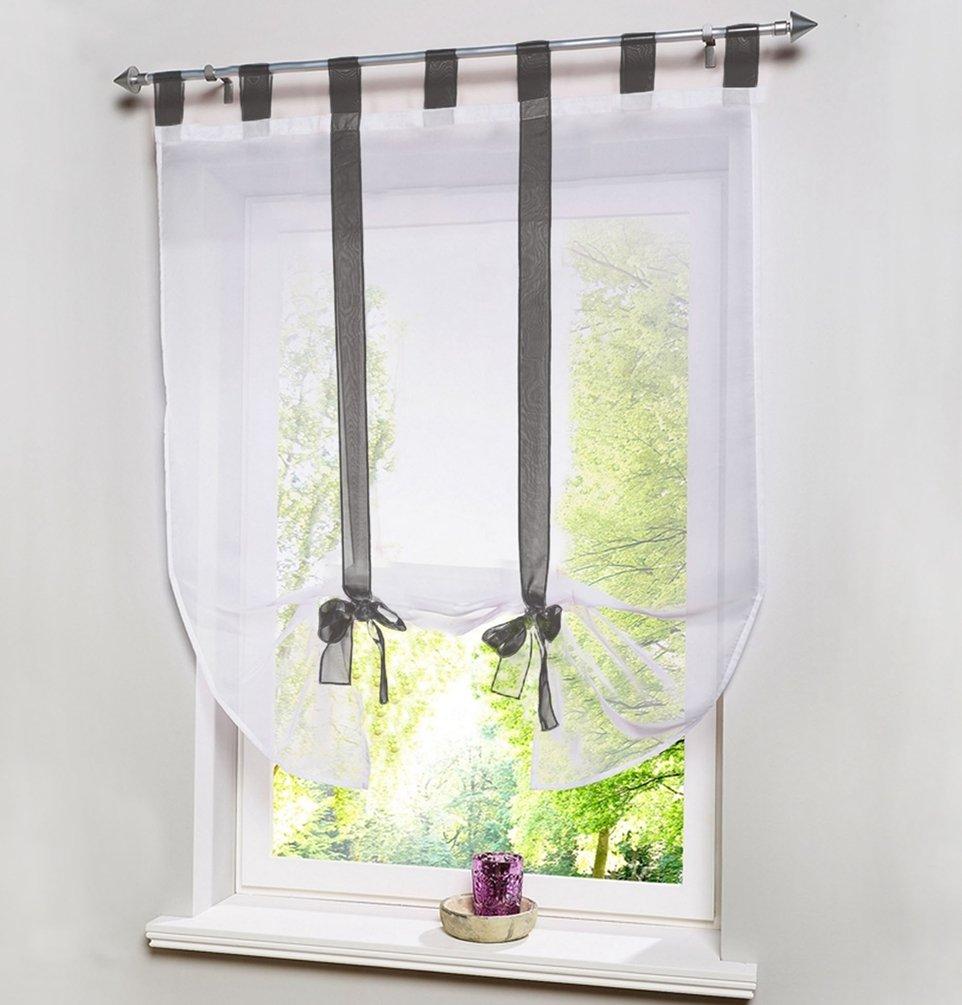 HomeyHo Sheer Curtain Fabric Sheer Curtains For Living Room Curtain Semi  Sheer Balloon Curtains For Bedroom Sheer Curtains For Bedroom Curtains  Window ...