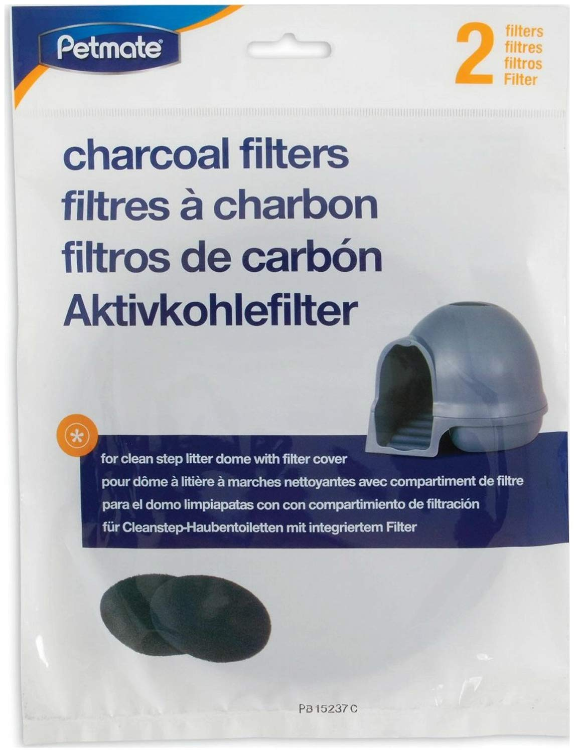 Booda Litter Box Charcoal Filters For Booda Dome, 2 Pack, 12 Pack by Booda