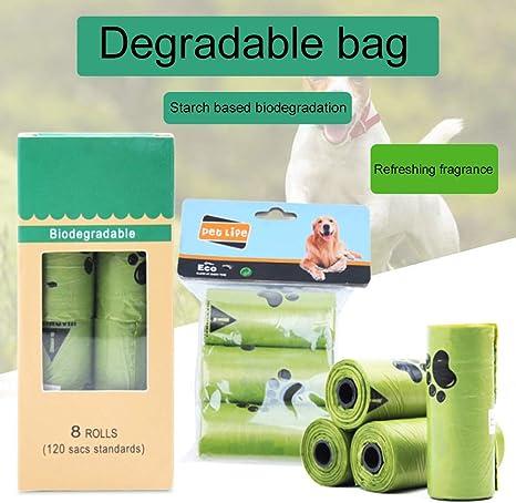 Catkoo 1/3/8 Rollo Patas Biodegradables Imprimir Bolsas De Caca De ...