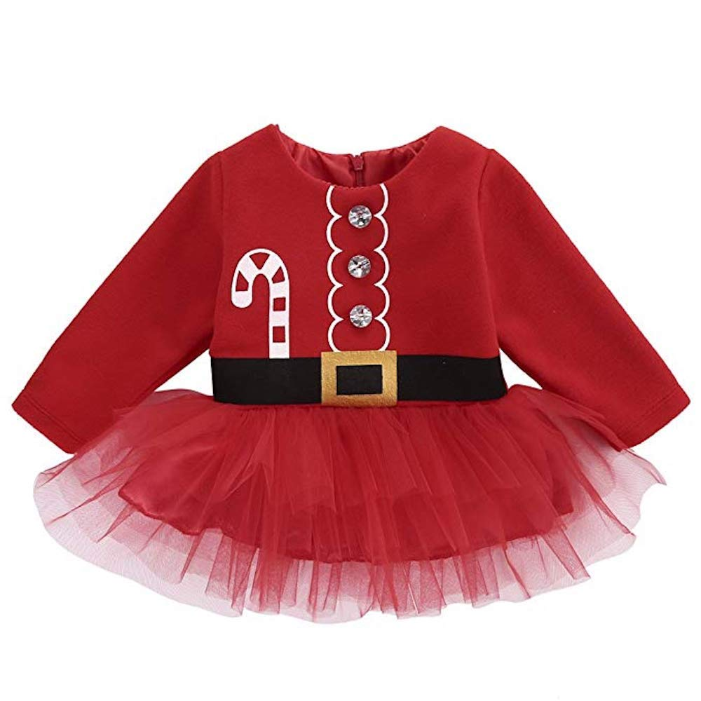 EZB Baby and Toddler Christmas Costumes & Outfits (Santa Dress, 2-3 Years)