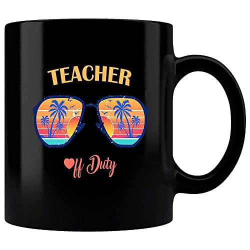 6af80e7c503 Amazon.com: Teacher Of Dutty Eyeglasses Summer Mug, Funny Off Duty ...