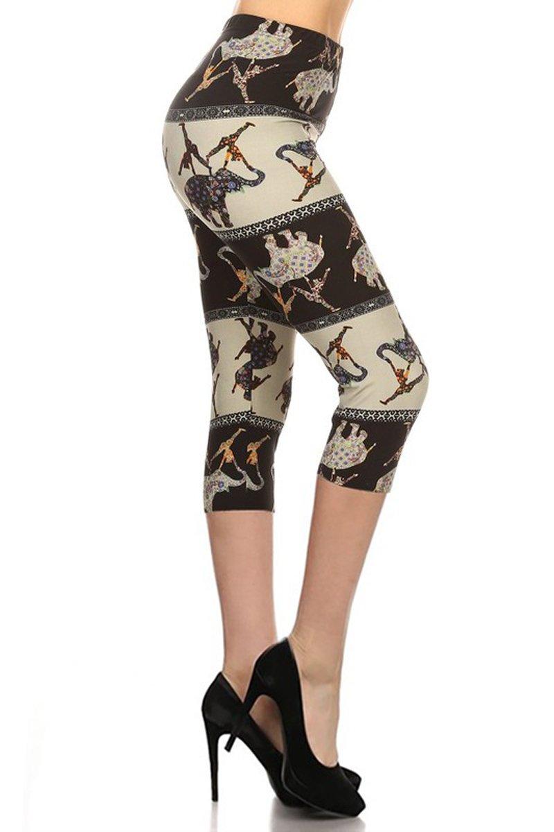 Leggings Depot Women's Popular Capri Cropped Regular and Plus Printed High Waist Leggings Batch5 61tRkVatj9L