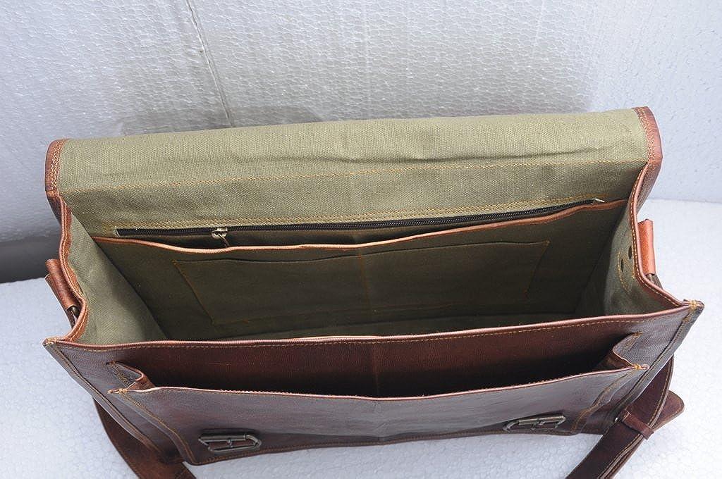 16 Inch Rustic Vintage Leather Messenger Shoulder Bag Laptop Bag Briefcase Satchel bag