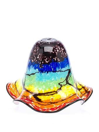 Lampenschirm Tischlampe Lampe Glas Glasschirm Murano Stil glass lampshade rot
