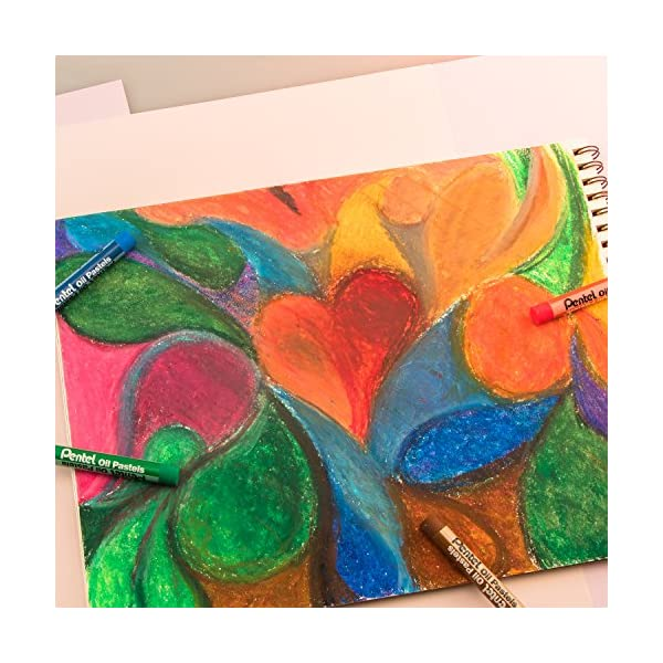 Pentel-Arts-Oil-Pastel-Set-516-x-2-716-Inch-Assorted-Colors-Set-of-36