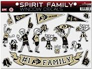 Football Fanatics NCAA Colorado Buffaloes Family Decals Sheet