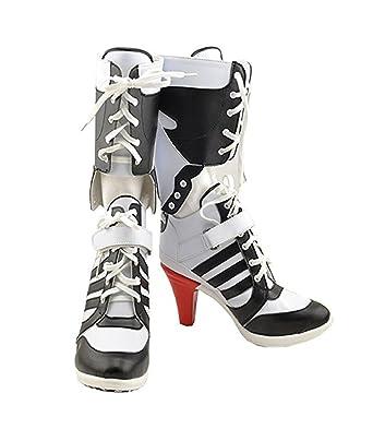 Amazon.com: Womens Cosplay Halloween White PU Pleather Shoes High ...