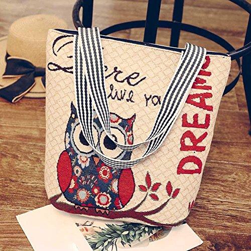 Canvas JYC Handbag Tote E Handle Bag Ladies Ladies Top Vintage Daily Messenger Canvas Tote Hobo Cartoon Satchel Handbag Bags Casual Women 2018 Shopper Shoulder Shoulder Purse wrX8t4qrPx