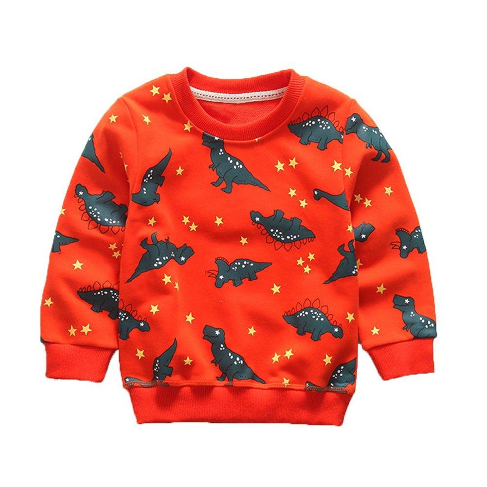 Enfants Chéris Little Boys' Crew Sweatshirt Long Sleeve T-Shirt Kids Clothes Pullover Cotton Dinosaur Tops