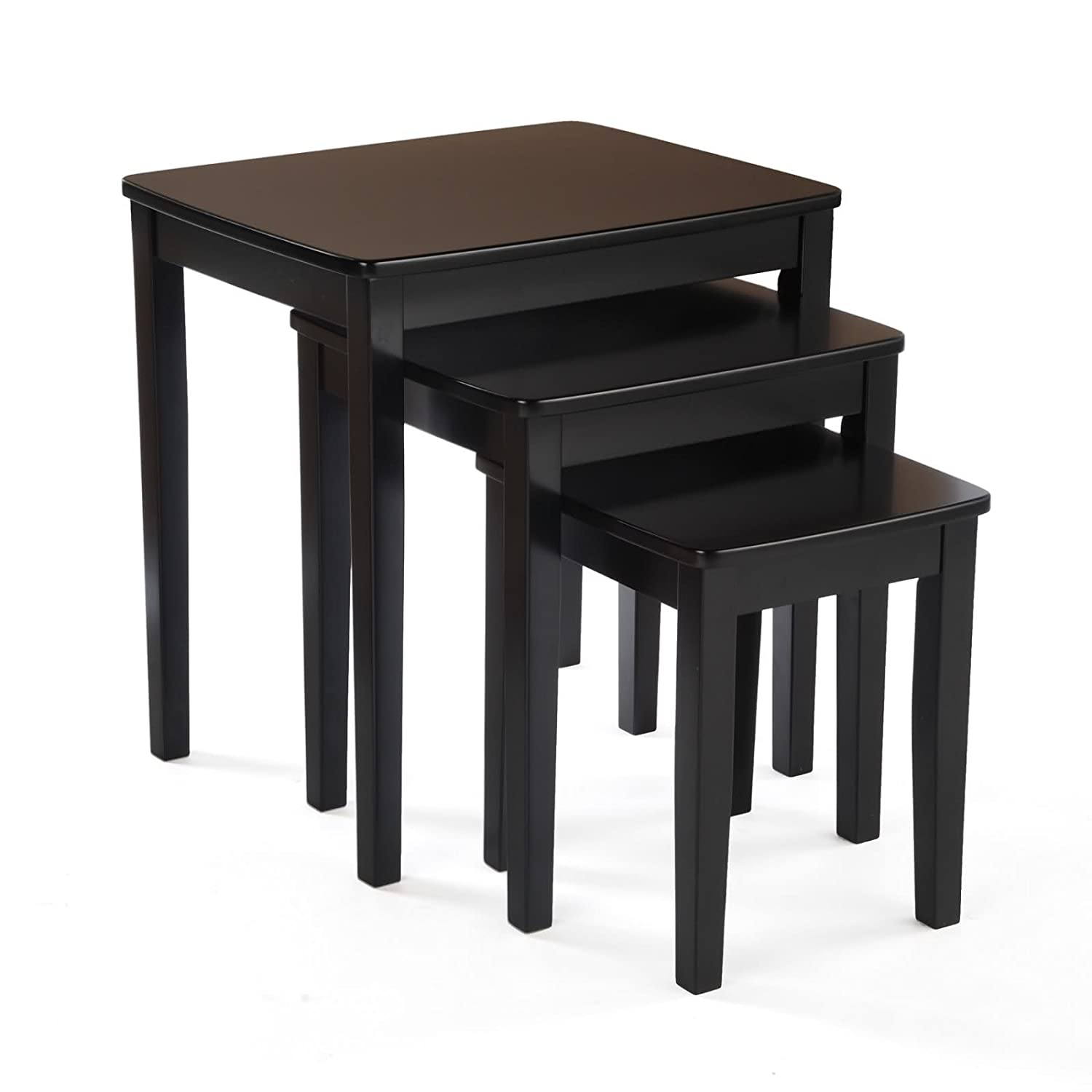 Tanner Nesting Tables Coaster Company Black Tempered Glass And Metal Nesting Tables Set Of 2