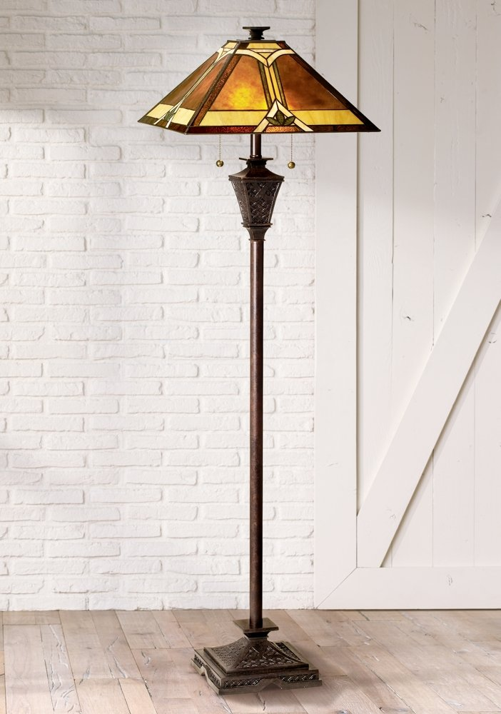 Amazon.com: Mission French Bronze Floor Lamp By Robert Louis Tiffany: Home  Improvement