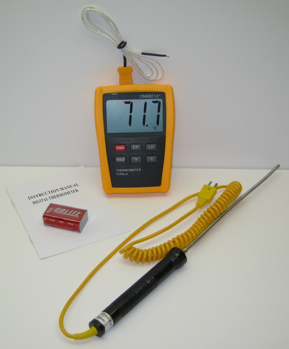 Digital Asphalt Thermometer with 8'' Stainless Steel Probe TC-4