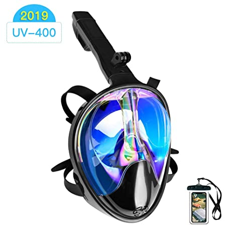 180° Full Face Snorkel Mask Scuba Diving Snorkeling Set For Camera NEW