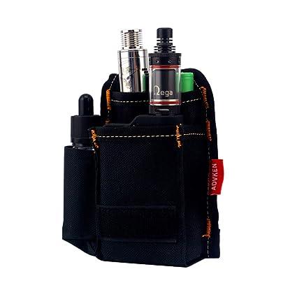 H&W V2 Vapeador Bag E-cigarrillo Anti Desgaste Ahumado Bolsa de Transporte Negro