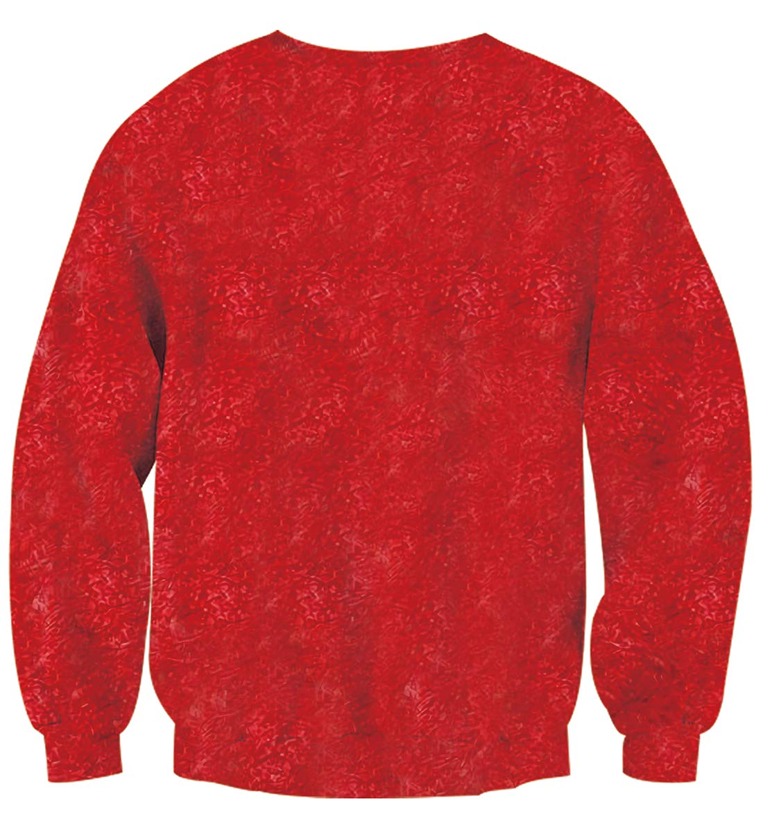 Uideazone Unisex Funny Print Ugly Christmas Sweater Jumper