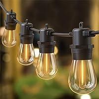 Quntis 16m IP65 LED lichtketting buiten, koppelbaar onbreekbaar 15 + 1 S14 gloeilampen buitenlichtketting elektriciteit…