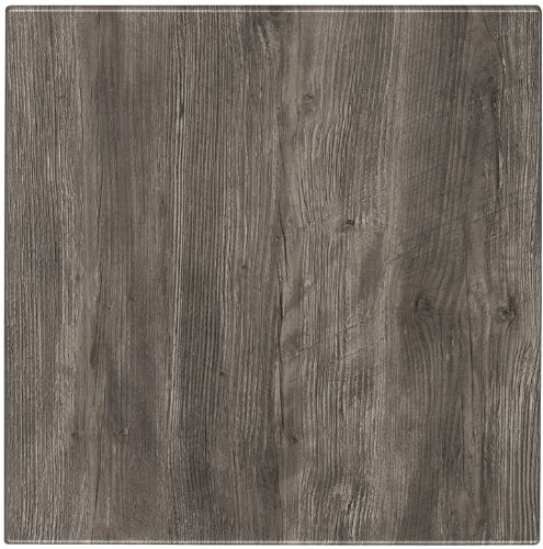 ATC Werzalit Wood-Look Table Top, 24'' L x 24'' W, Ponderosa Grey (Pack of 2)
