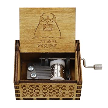langpin Caja Musical de Madera, Madera Tallada Antigua, Caja de música Hecha a Mano - Tema Principal de Star Wars: Amazon.es: Hogar