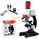 StepsToDo Student's Microscope. 1200x, 400x, 100x Magnification. Children Science Microscope Kit with LED Lights