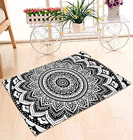 Jaipuri Haat Multi Purpose Hand Woven Cotton Mat- 60x90 cm