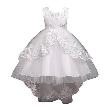 9d2a9c4d09cc8 Fleur Fille Robe Demoiselle D Honneur Sans Manches Mariage Des Gamins  Princesse Fête Maxi Reconstitution