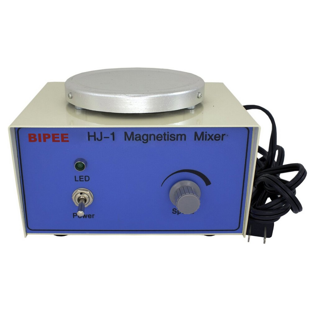 BIPEE HJ-1 Magnetic Stirrer with 8X25mm Magnetic Stir Bars, 1000ml, 2400rpm PRS-HJ-1