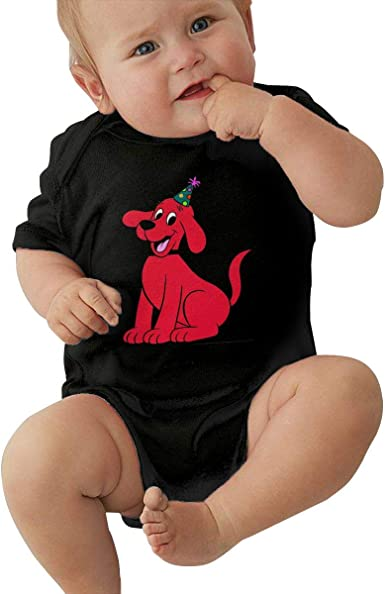Clifford The Big Red Dog Little Baby Girls Boys T Shirt Soft Crew Neck Basic Shirt for Baby