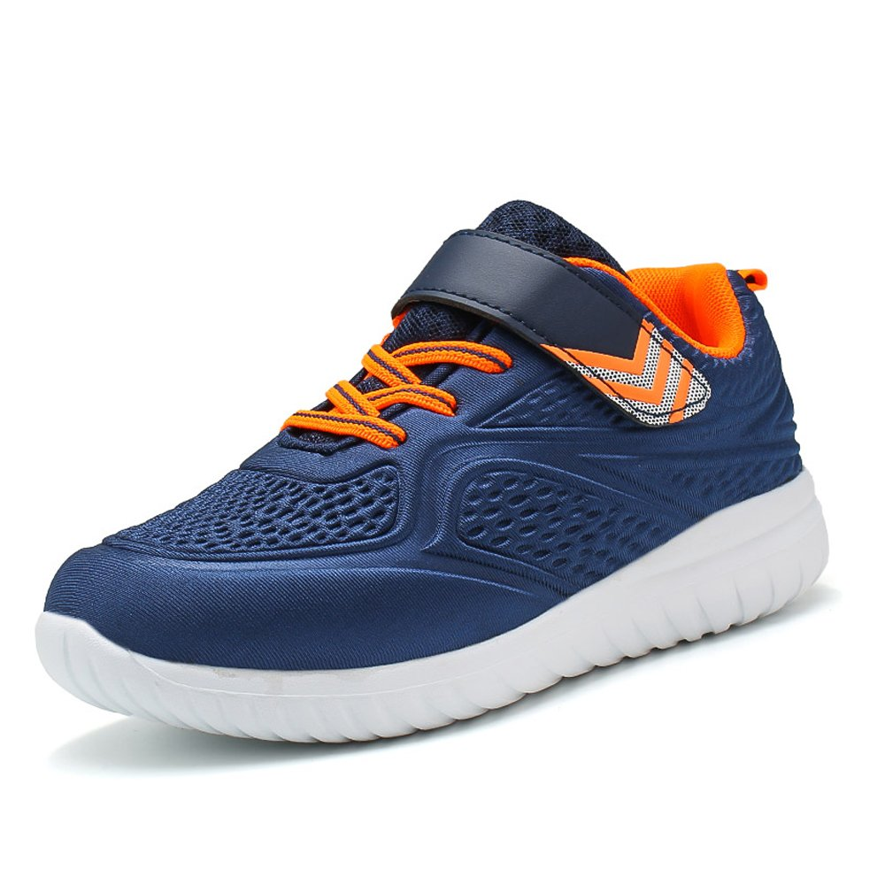 Idea Frames Boy's 3D Running Shoes Lightweight Casual Strap Sneaker Non-slip Trail Runners