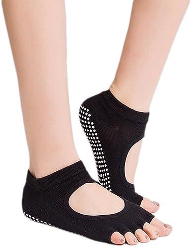 Gym Sports Non-Slip Open-Toe Yoga Pilates Ankle Grip Socks Massage Socks New