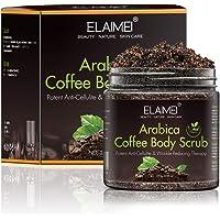 Arabica Coffee Body Scrub - 100% Natural Body Exfoliating Scrub for Skin Care Moisturizing, Anti Cellulite and Stretch Mark Treatment, 8.8 oz