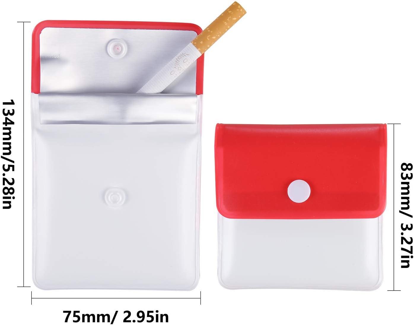 Compatto Odore a Prova di Fuoco Posacenere portatili PVC Ignifugo Inodore Tasca per Attivit/à allaperto in Viaggio Colori Assortiti Annhao 10 Pezzi Tasca posacenere Astuccio in Polvere